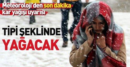 Meteoroloji'den son dakika o illerimiz için kar ve tipi uyarısı! İstanbul'da hava durumu nasıl olacak? (31 Ocak 2019)