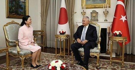 TBMM Başkanı Binali Yıldırım, Japonya Prensesi Mikasa'yı kabul etti