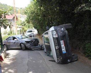 Sarıyer'de akılalmaz kaza!