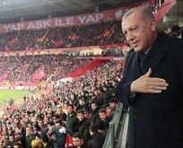 Başkan Erdoğan Lefkoşa'da yeşil sahaya çıkıyor