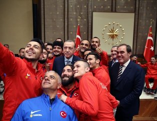 Erdoğan Ampute Milli Takımı'nı kabul etti