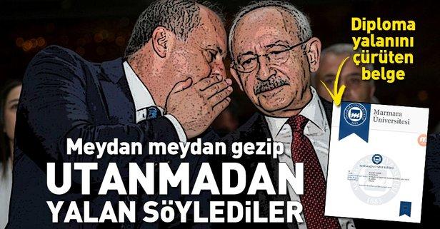 Muharrem İnce ve Kemal Kılıçdaroğlunun diploma yalanını çürüten belge