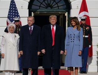 Dünyanın gözü bu zirveydi! Trump, Başkan Erdoğan'ı resmi törenle karşıladı