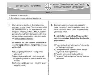 LGS soruları ve cevapları 2018! Türkçe Matematik ve Fen Bilimleri LGS sınav soruları ve cevapları yayınlandı