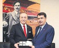 Vali Vasip Şahin'den G.Saray'a ziyaret