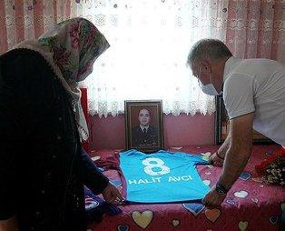 Trabzonspor Kulübü Başkanı Ahmet Ağaoğlu'ndan Şehit Halit Avcı'nın ailesine ziyaret