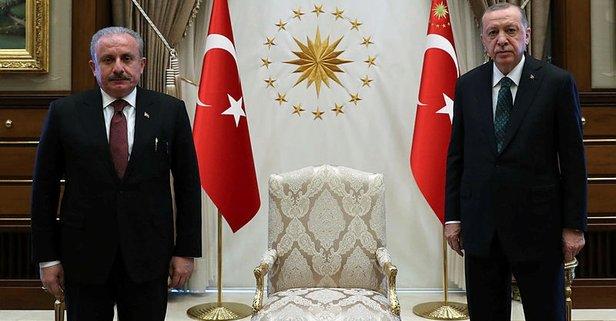 Başkan Erdoğan Şentop'u kabul etti