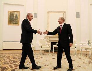 Başkan Erdoğan-Putin görüşmesinden ilk fotoğraflar
