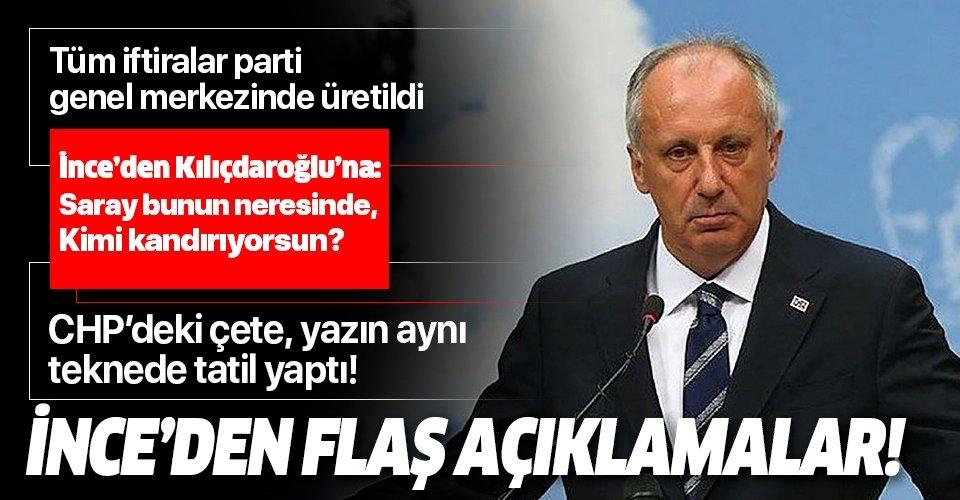 Muharrem İnce'den Kılıçdaroğlu'nun