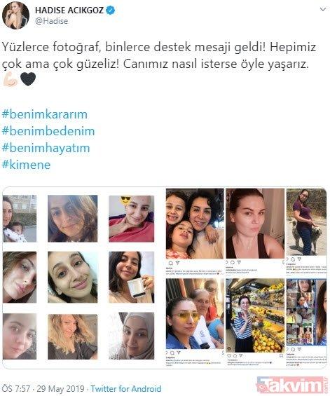 Hadise'nin makyajsız yatak fotoğrafına ünlülerden destek! Çağrısına uydular...