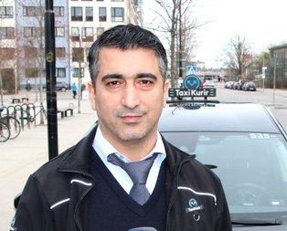 Türk taksici İsveç'te kahraman oldu