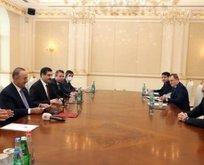 Aliyev, Akar ve Çavuşoğlu'nu kabul etti!