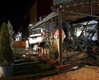 Başkentte otomobil kafeye girdi: 1 yaralı