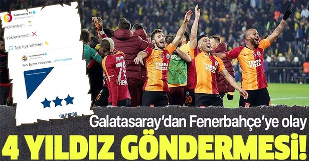 Galatasaray'dan Fenerbahçe'ye olay gönderme