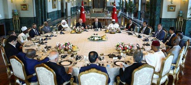 Erdoğandan İslam ülkelerine işbirliği mesajı
