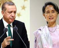 Erdoğan, Myanmar lideriyle görüştü