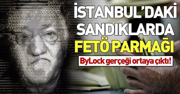 İstanbul'daki sandıklarda FETÖ izi