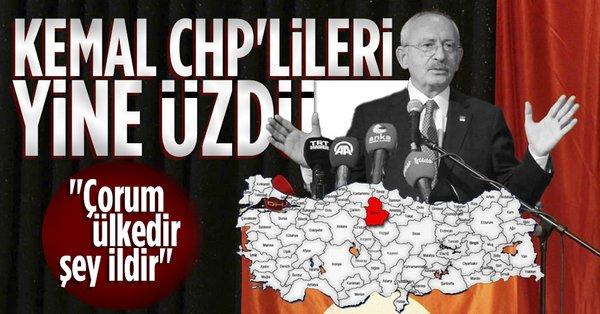 CHP Lideri Kemal Kılıçdaroğlu: Çorum aynı zamanda ciddi ihracat yapan bir ülkedir, şey ildir - Takvim