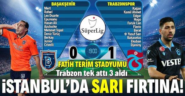 İstanbul'da 'Sarı' fırtına! Trabzonspor...
