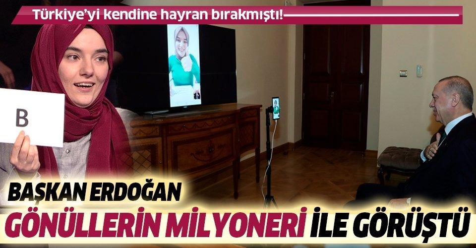 Son dakika: Başkan Erdoğan, Ümmü Gülsün Genç ile görüştü