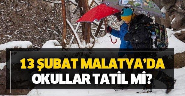 Malatya'da yarın okullar tatil mi?