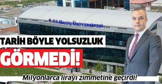 Haliç Üniversitesi'nde zimmet skandalı!