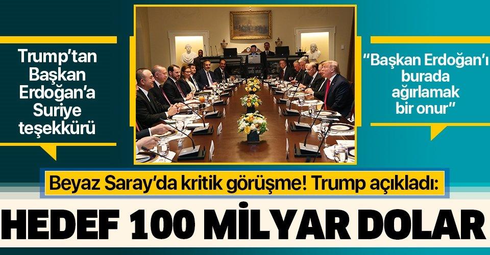 Beyaz Saray'da Başkan Erdoğan -Trump görüşmesi sona erdi