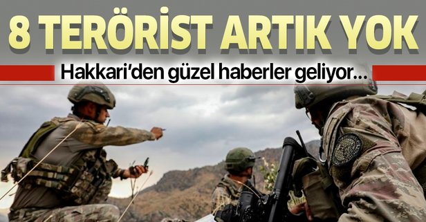 8 PKK'lı artık yok