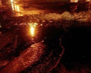 Gaziantep'te yıldırım petrol boru hattının üzerine düştü!
