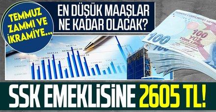 SSK emeklisine 2.605 TL maaş