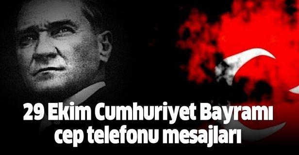 29 Ekim Cumhuriyet Bayramı cep telefonu mesajları