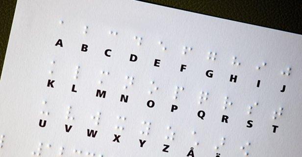 Üzerine dizilmiş altı kabartılmış noktadan oluşan alfabe nedir?