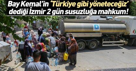 İzmir yine susuzluğa mahkum! 36 saat boyunca kesik...
