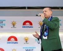 Cumhurbaşkanı Erdoğan Erzurumda mitinginde konuştu