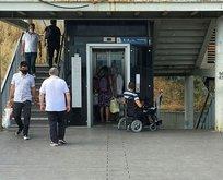Durakta engelliye asansör ayıbı