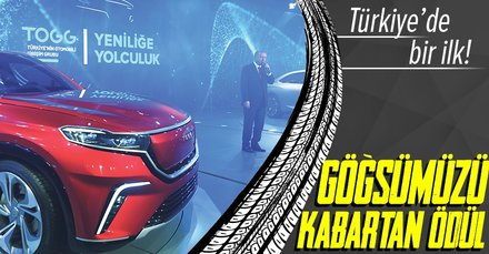Türkiye'de bir ilk! Yerli otomobil TOGG'a dev ödül!