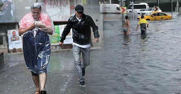 İstanbulda beklenen yağış başladı!