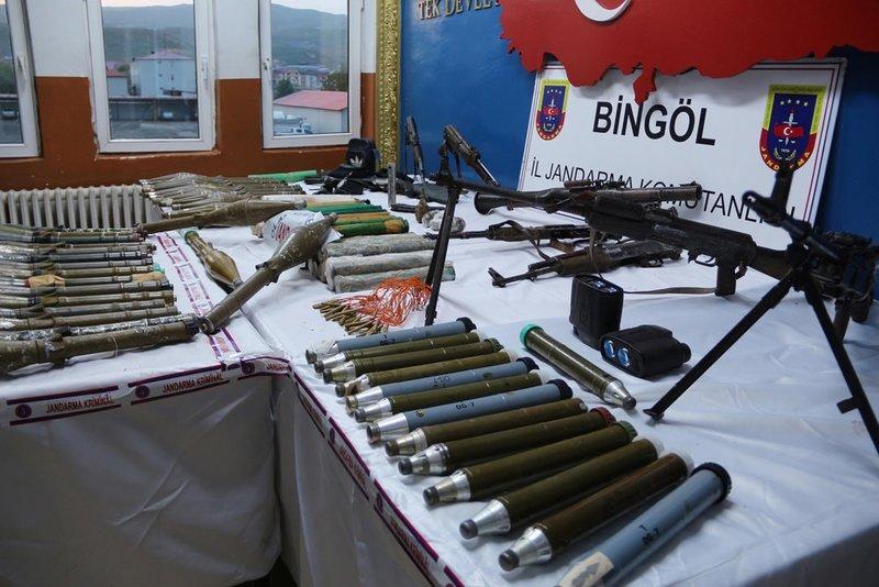 Bingölde PKKnın mühimmat deposu bulundu!