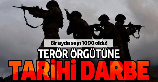 Terör örgütü PKK/YPG'ye ekimde ağır darbe