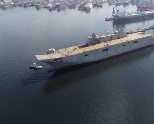 TCG Anadolu 2020'de denizde
