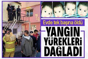 İzmir'de evde yalnız olan 4 yaşındaki çocuk evde çıkan yangında öldü