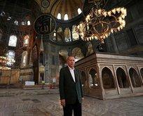 Başkan Erdoğan'dan Ayasofya Camii'nde