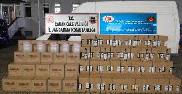 Çanakkale'de bin 225 litre kaçak etil alkol ele geçirildi