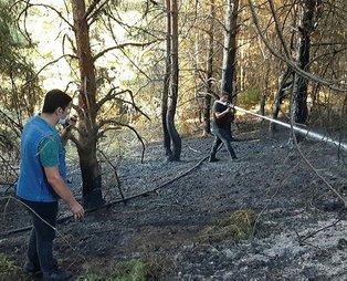 Kastamonu'da çıkan orman yangını, bakanlık ve köylülerin işbirliğiyle kontrol altına alındı