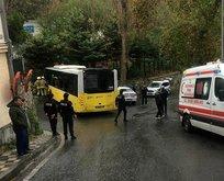 Beşiktaşta İETT otobüsü kontrolden çıktı! Yaralılar var