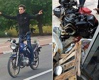 Elektrik direğine çarpan genç motorsikletlinin ölümü