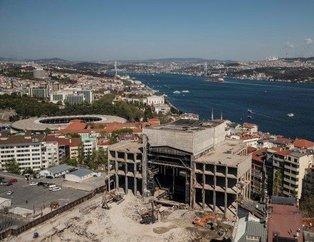 Taksim Meydanı ve çevresi yüksekten görüntülendi