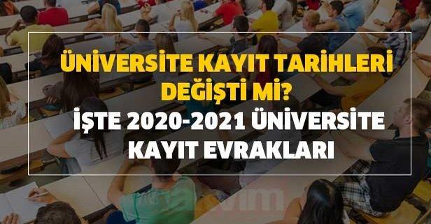 Üniversite kayıt tarihleri değişti mi? İşte 2020-2021 üniversite kayıt evrakları