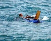 Denizin ortasında can pazarı!
