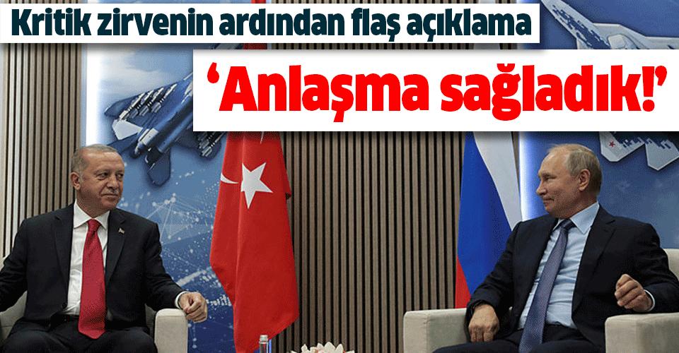 Başkan Erdoğan ile Putin'den ikili görüşme sonrası önemli açıklamalar